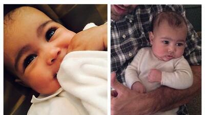 ¿Depilaron las cejas de la bebita de Kim Kardashian?