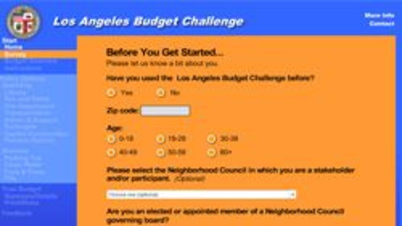 La ciudad de Los Angeles activo sondeo en linea para balancear el defici...