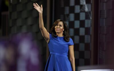 La primera dama de Estados Unidos, Michelle Obama, habla durante la Conv...