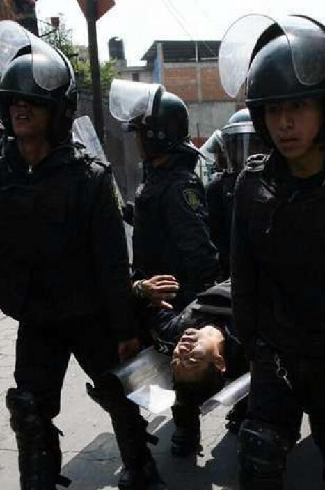 Los enfrentamientos se extendieron al camino Viejo a Mixcoac, Cerrada Ti...