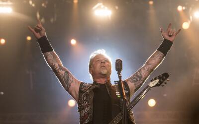 RIO DE JANEIRO, BRAZIL - SEPTEMBER 19: James Hetfiled from Metallica per...