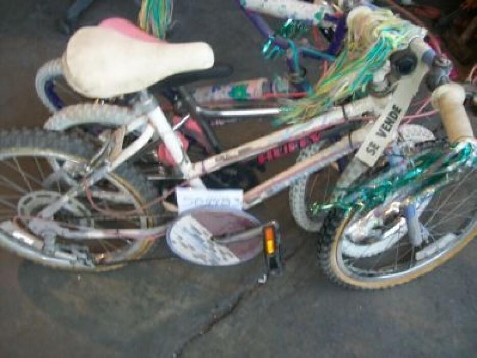 Bicicletas para niños y adultos forman parte de la vendimia. (Foto: Cort...
