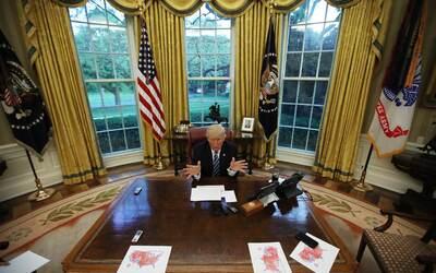 El presidente Donald Trump en una entrevista con la agencia Reuters el 2...