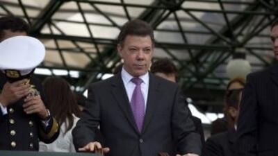El presidente de Colombia desde este sábado, Juan Manuel Santos, cuenta...