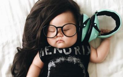 La pequeña Joey Marie Choi en uno de sus adorables disfraces.