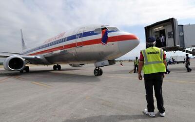 Imagen de un avión de la compañía American Airlines.