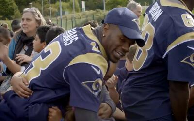 Gran recibimiento a Los Angeles Rams en Londres