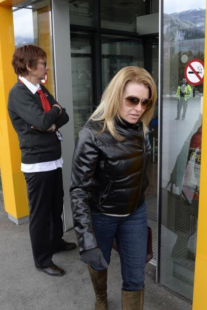 La estrella de cine arribó a Austria con su amada Heather Milligan. Arno...