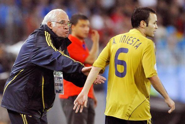Luis Aragonés, seleccionador de España en 2006, no puede v...