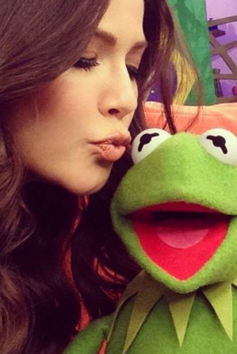 """""""Feliz con la visita de Kermit, la Rana René en la casita de @DespiertaA..."""