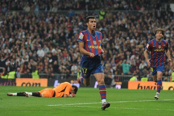 En la segunda parte Pedro hizo el segundo del Barcelona.