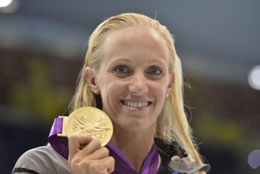6- DANA VOLLMER, nadadora  Medallas de oro: 3  Medallas de plata: 0  Med...
