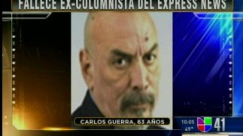 Murió Carlos Guerra, ex columnista del SA Express News