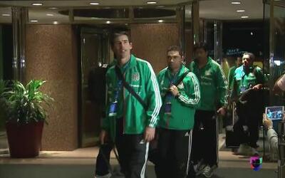 La Selección Mexicana llegó a su hotel de concentración en Denver