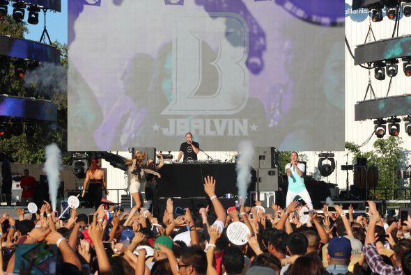 J Balvin se presentó este fin de semana en el Uforia Music Festiv...