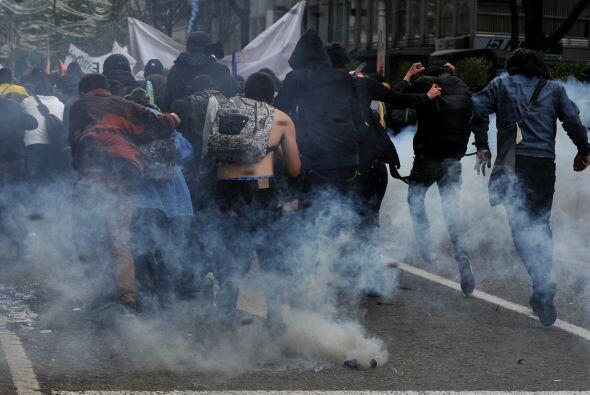 Según medios locales, a lo largo de las movilizaciones se registraron la...