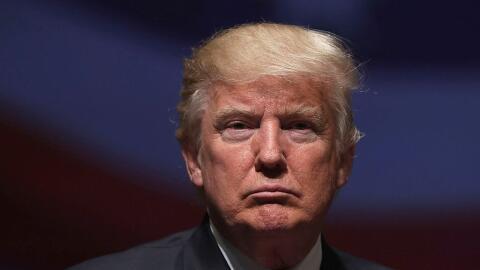 Donald Trump en un evento de campaña en Virginia el 6 de septiemb...