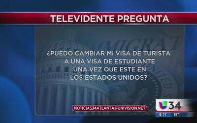 ¿Puedo cambiar mi Visa de turista por una de estudiante?