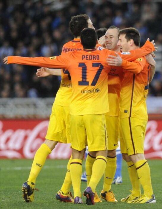 Era el 1-0 y todo hacía presagiar otra victoria del Barcelona.
