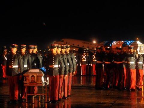 Los cuerpos de tres de cinco guatemaltecos que formaban parte del grupo...
