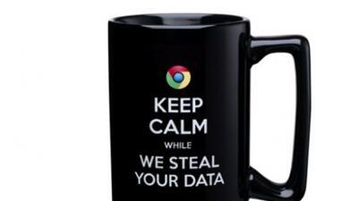 productos como esta taza son parte de la campaña anti google de Microsoft.