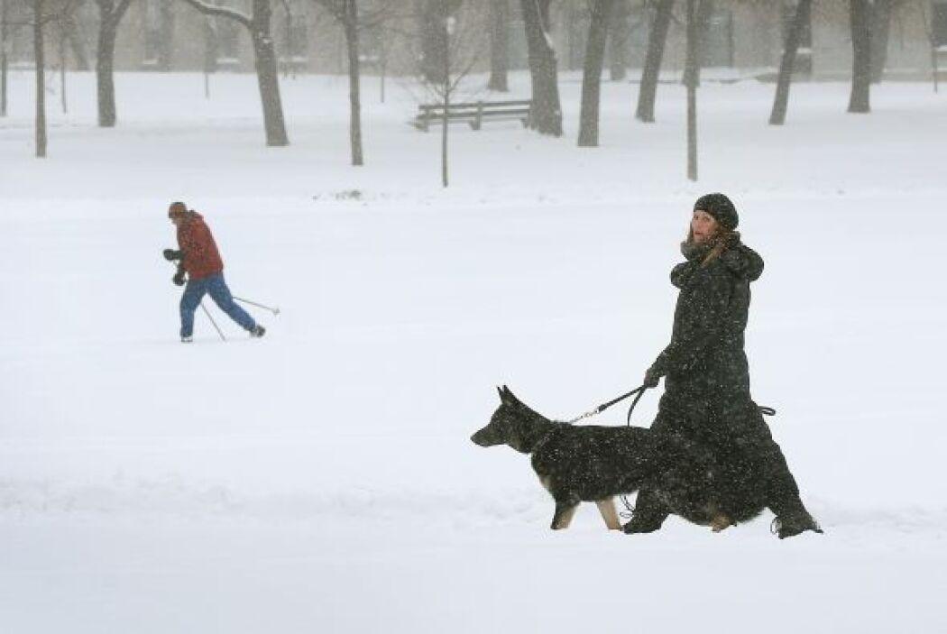 En algunas partes del estado se rompieron récords de caída de nieve.