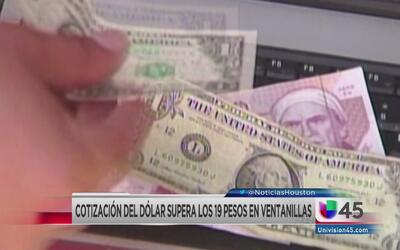 El dólar sobrepasó los 19 pesos en México