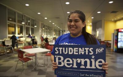 Anabel Moreno, votante de Bernie Sanders en New Hampshire