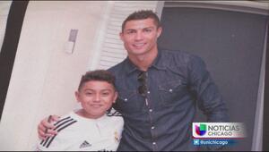 Niño de Chicago ejemplo de fortaleza conoce a su ídolo Cristiano Ronaldo