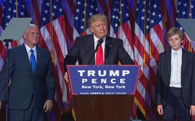 Trump agradeció a su familia al aceptar la victoria en las elecci...