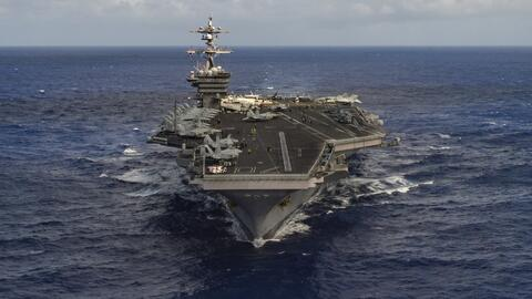En video: Barcos de guerra estadounidenses y japoneses se dirigen a la p...