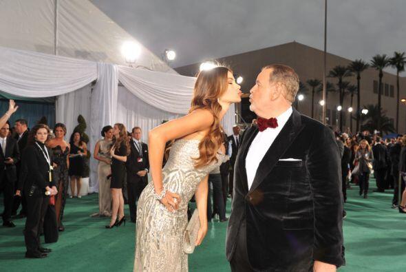 Para mostrarse nuevamente su cariño, Sofía le dio un cariñoso beso al Go...
