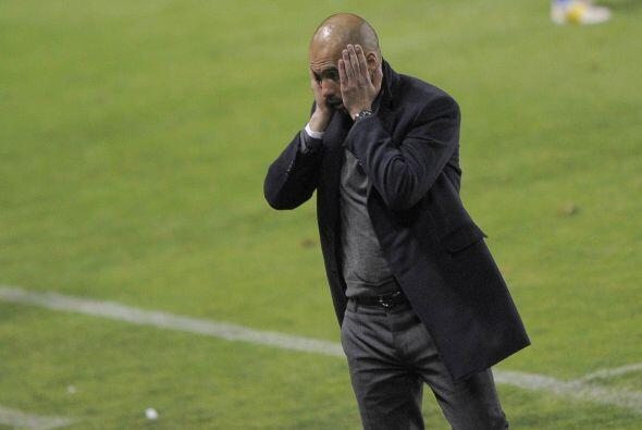 Y esto causaba que los bervios del técico Josep Guardiola estuvieran al...