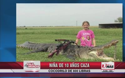 Nila de 10 años caza cocodrilo de 800 libras