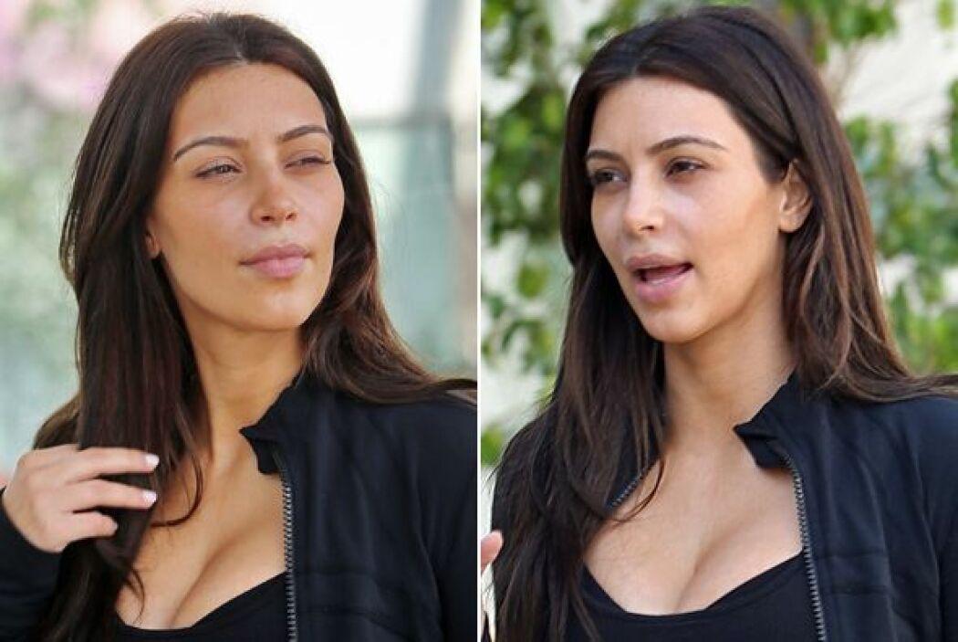 """Vimos a Kim """"al natural"""". Más videos de Chismes aquí."""