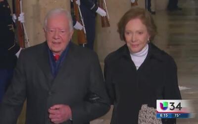 Recibe Jimmy Carter un homenaje durante la Convención Demócrata