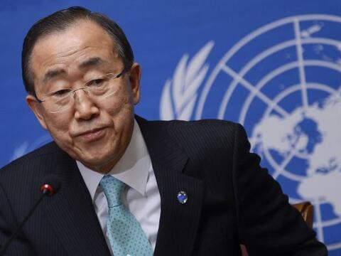 El secretario general de Naciones Unidas, Ban Ki-moon,  pidió tiempo par...