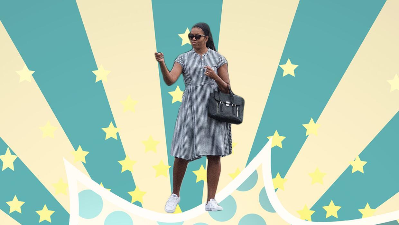 Así lució Michelle Obama al final de sus vacaciones usando un vestido de...