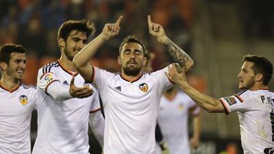 El delantero del Valencia sentenció el triunfo tras el gol de Dani Parejo.
