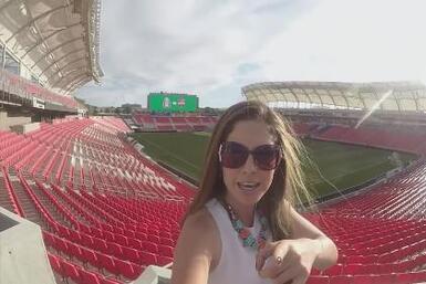 El Diario de Ana Caty: Detrás de cámaras en Rio Tinto Stadium