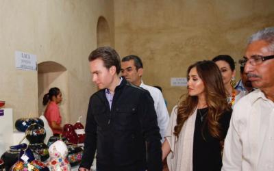 Anahí se dejó ver el 22 de enero junto a su esposo, el gob...