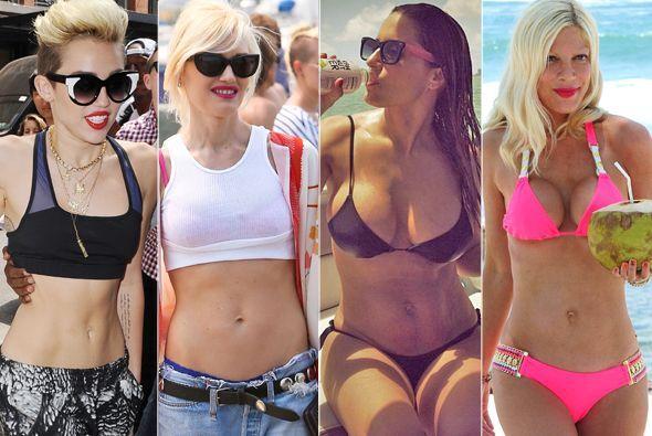 En esta época del año las celebridades aprovechan para presumir sus curv...