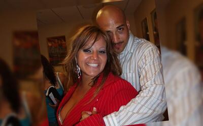 Jenni Rivera y su gran amor Fernando, el 'Pelón'.