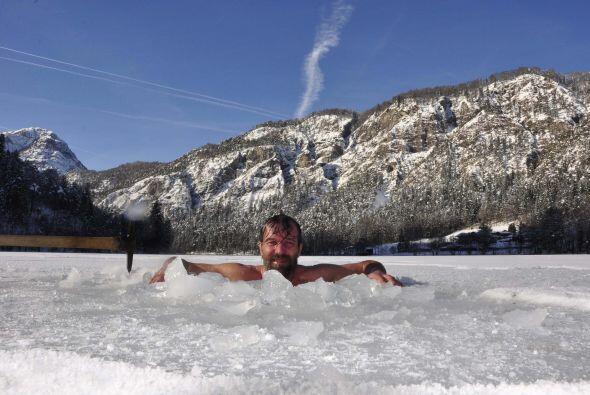 Como el del baño en hielo más largo, Wim sabe de lo que su...