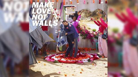 'Make love not walls', la campaña de la marca Diesel en rechazo al muro...