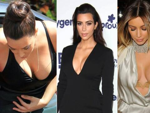 ¡Kim Kardashian adora enseñar sus encantos con prendas con...