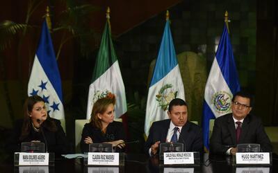 Los cancilleres de México, Guatemala, Honduras y El Salvador se habían r...