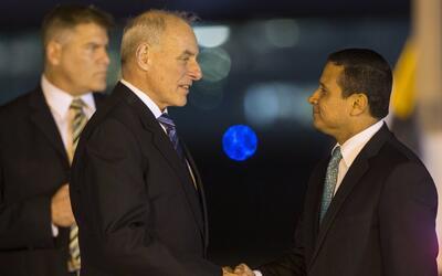 El Secretario de Seguridad Nacional de EEUU se reunió con el presidente...