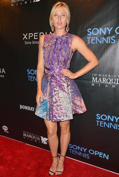 No podía faltar la belleza de María Sharapova.