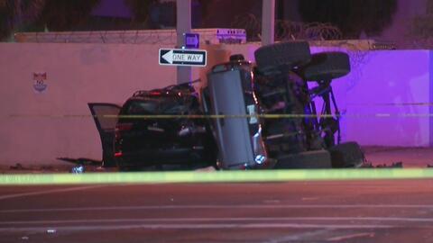 Un muerto y seis heridos por el choque entre dos vehículos en el Downtow...
